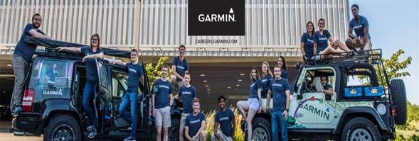 Garmin's banner
