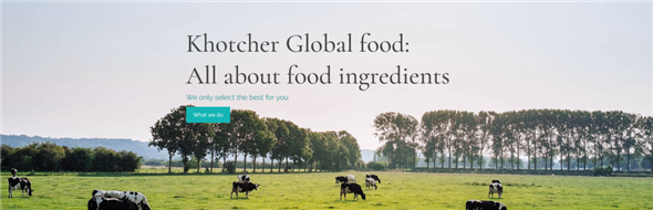 KHOTCHER GLOBAL FOOD CO., LTD.'s banner